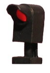 dwarf searchlight signal (black) (HO scale)