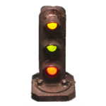3-light dwarf signal - C&O style (HO scale)