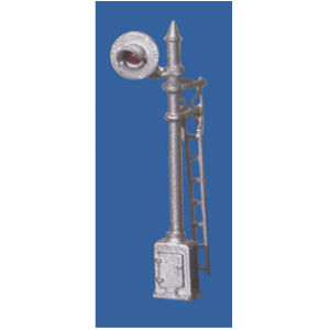 N scale 3-color searchlight signal - silver