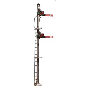 Double head semaphore signal (HO scale)