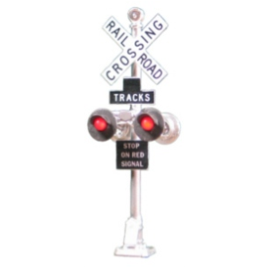 Dual grade crossing signals w/bell casting (HO scale)