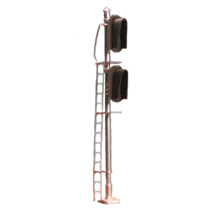 Hooded dual 3-light vertical signal (HO scale)