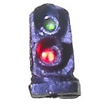 2-light (G/R) dwarf signal (N scale)