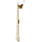 N scale Upper Quadrant semaphore signal with relay base