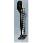 N scale 3-light vertical signal - black