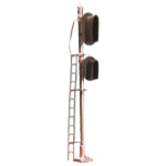 Hooded 3/2-light vertical signal (HO scale)